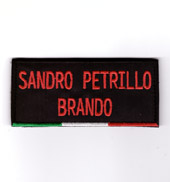 Patch ITALIA con nome 11x5